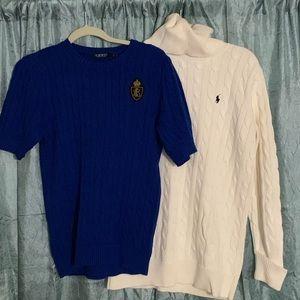 Two Ralph Lauren Sweaters